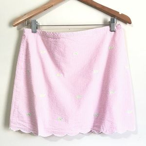 Vineyard Vines Mini Skirt Size 8 Seersucker Pink